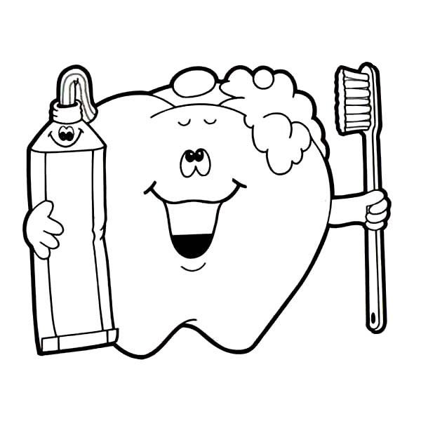 Jobs Coloring Kids: Dental Health Coloring Kids