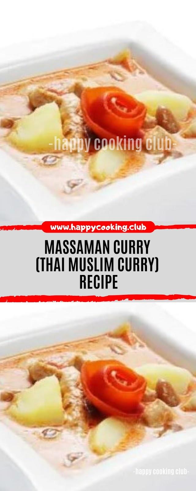 Massaman Curry (Thai Muslim Curry) Recipe
