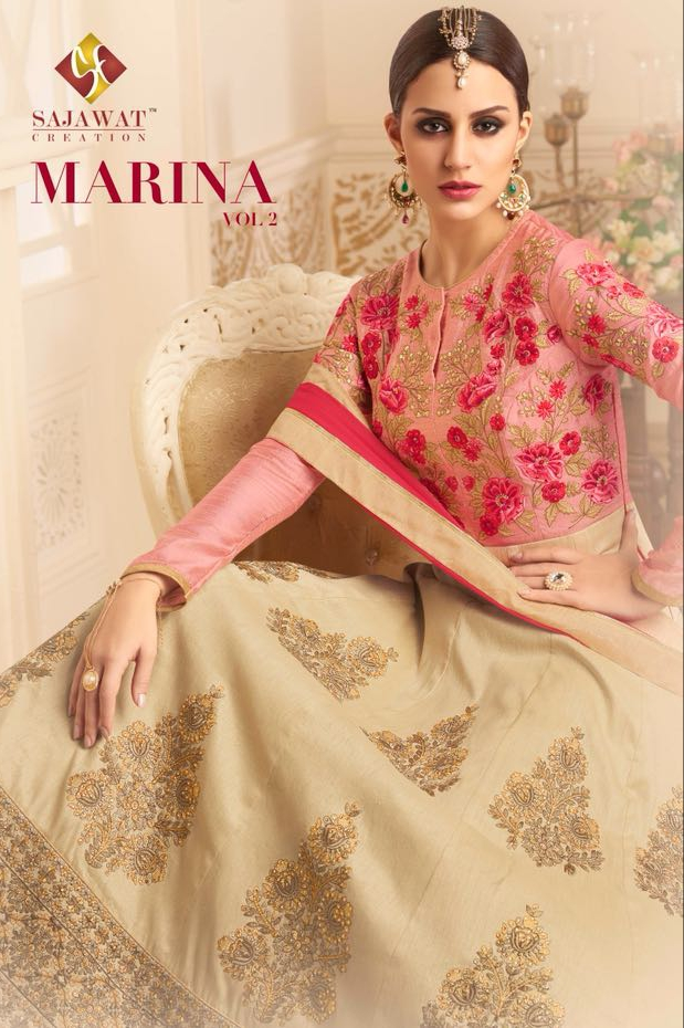Sajawat creation marina vol 2 heavy silk lehanga collection