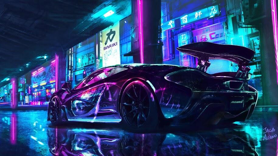 Beautiful, Supercar, McLaren, Night, City, 4K, #4.3059
