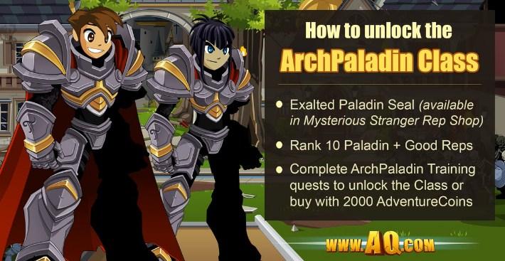 guide archpaladin class aqw