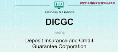DICGC - Deposit Insurance and Credit Guarantee Corporation for IBPS PO, IBPS CLERK, INSURANCE EXAMS, RRB EXAM, SBI PO, SBI CLERK