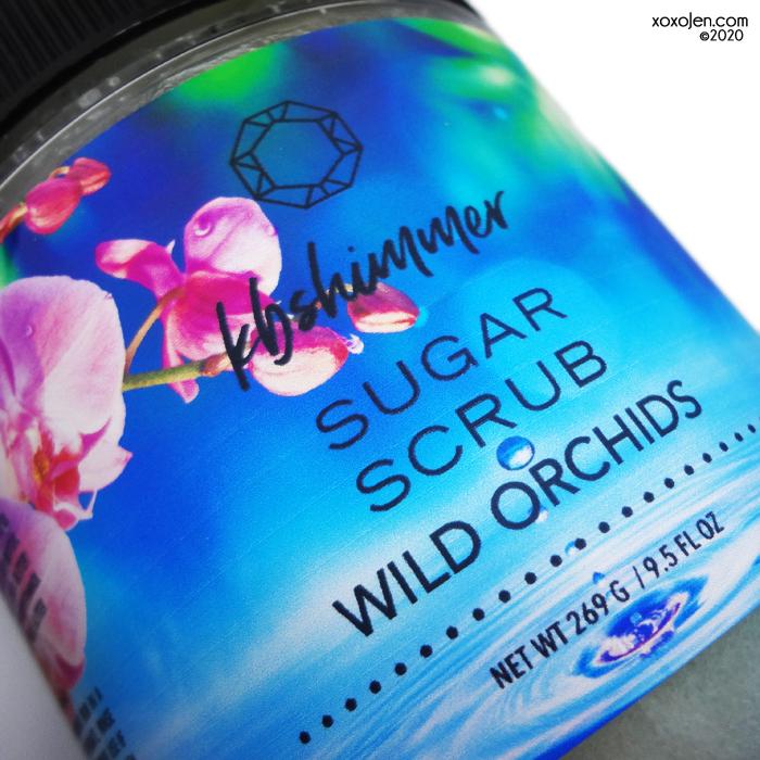 xoxoJen's swatch of kbshimmer Wild Orchid sugar scrub