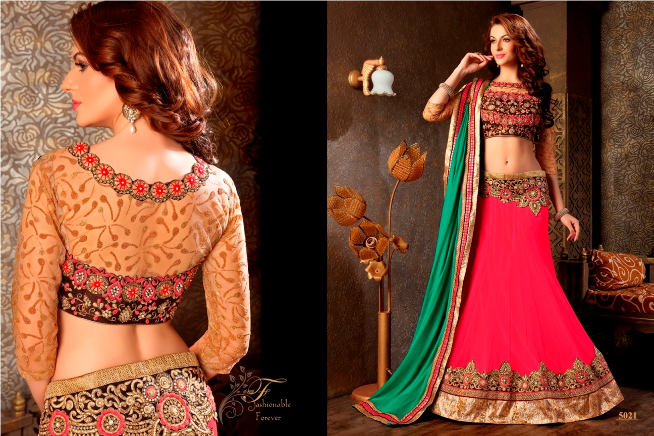 Royal Look – Heavy Georgette Embroidery Work Lehenga Choli