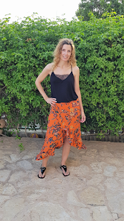 falda volantes verano hecha a mano
