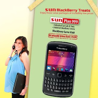 Blackberry Curve 9360 on Sun Plan 999, payday weekend treat from Sun Cellular