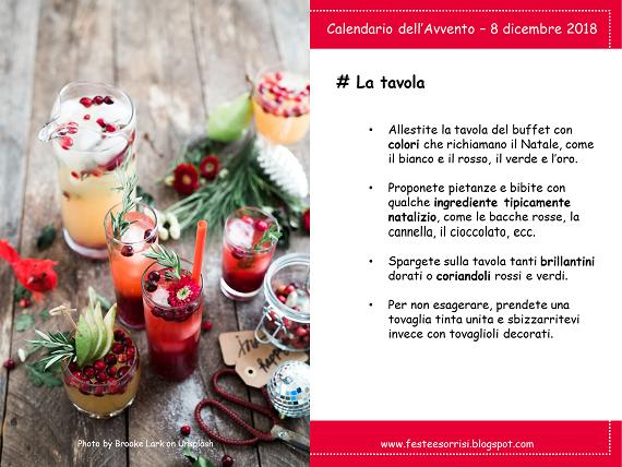Calendario dell'Avvento - Consigli per la tavola del buffet di una festa di compleanno a dicembre