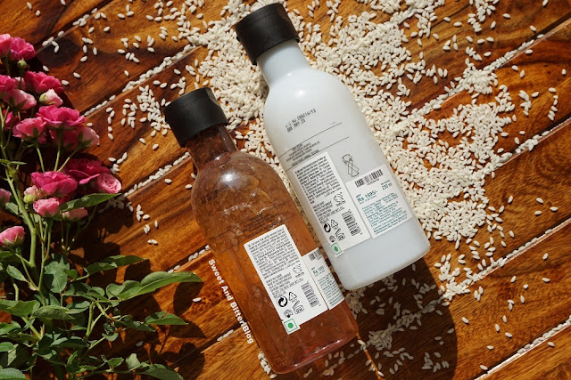 The Body Shop British Rose Petal-Soft Gel  & Chinese Ginseng and Rice Clarifying Milky Toner Review