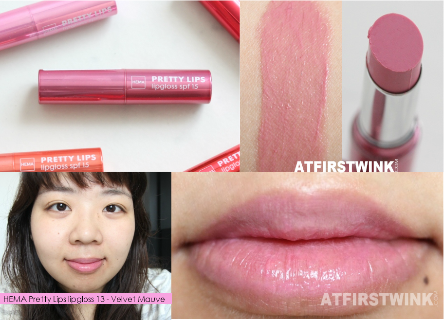 HEMA Pretty Lips lipgloss 13 - Velvet Mauve review