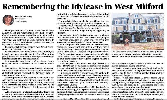 Idylease Newspaper Article