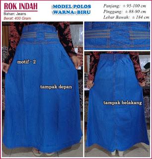 rok jeans polos - rok indah motif 2