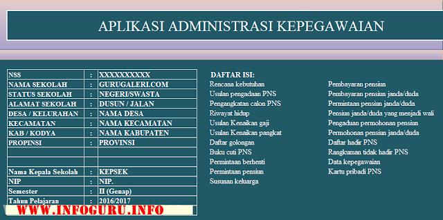 Download Aplikasi Administrasi Kepegawaian Lengkap