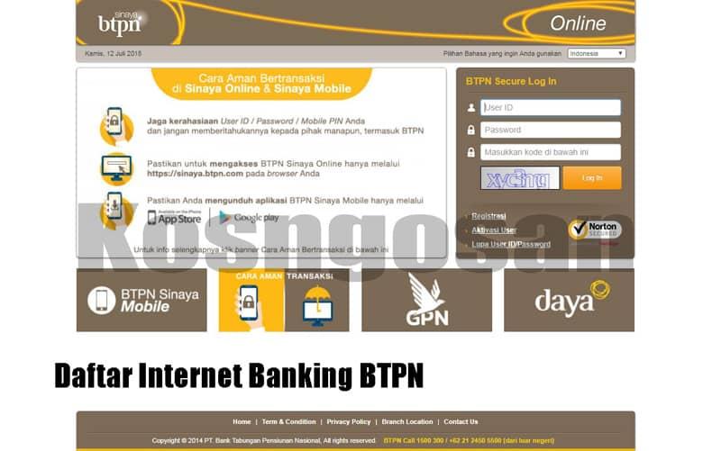 cara daftar internet banking btpn