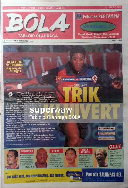 Tabloid BOLA: TRIK KLUIVERT