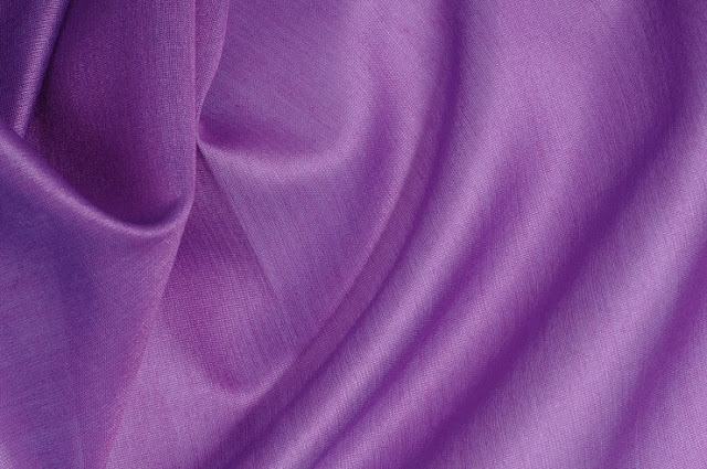 Amethyst Orchid Cotton Silk Fabric