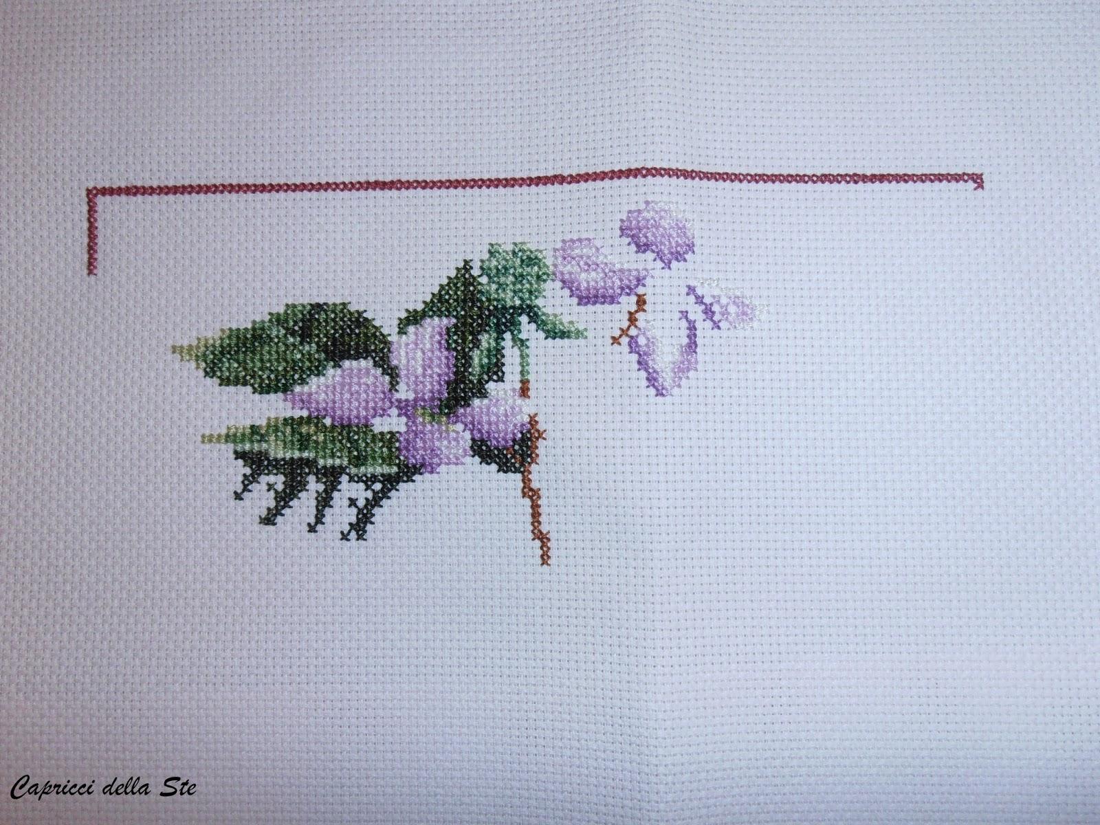 Capricci della ste punto croce fiori e farfalle 6 for Punto croce fiori e farfalle