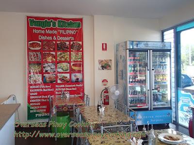 Vangie's Kitchen, Menu