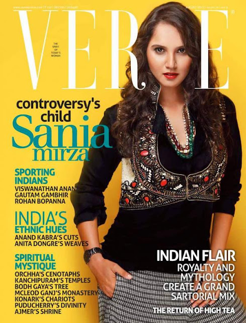 Sania Mirza On The Cover Of Verve India August 2012