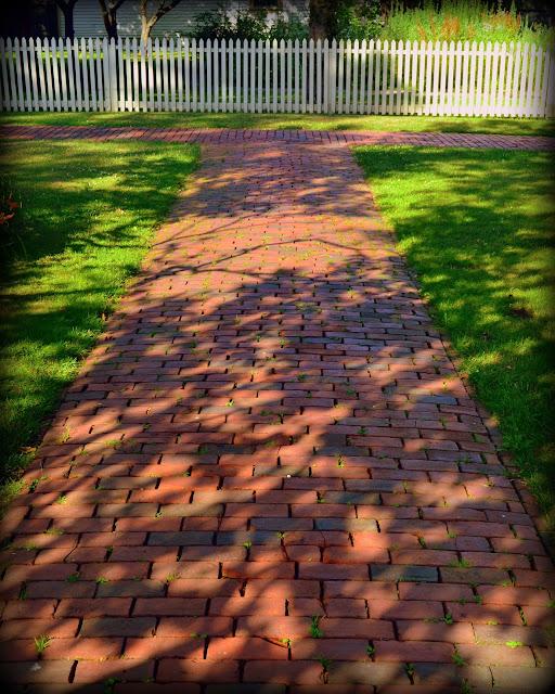 Brick, Walkway, Salem National Maritime Historic Site, Salem, Massachusetts, shadows