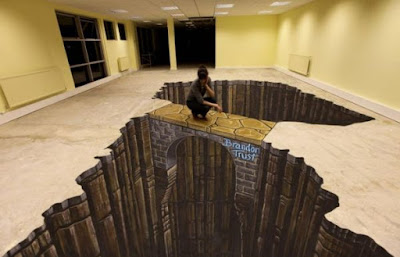 3D floor art for interior flooring