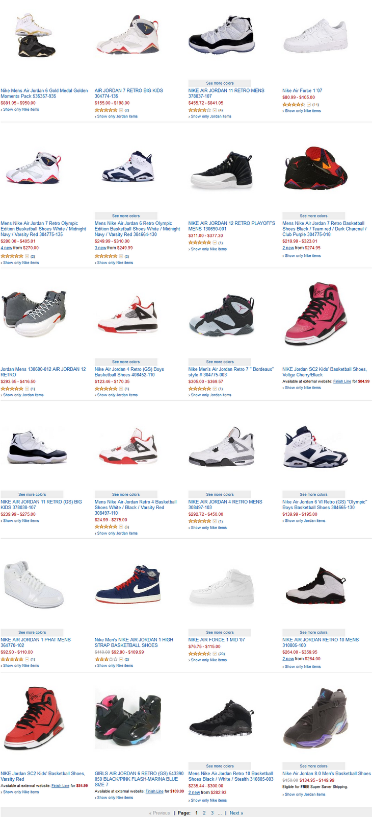 List Of Jordan Shoes And Prices