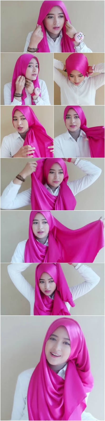 Tutorial hijab paris simple natasha farani 16
