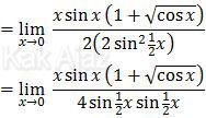 Mengubah 1 -cos x menjadi 2 sin^2 1/2 x