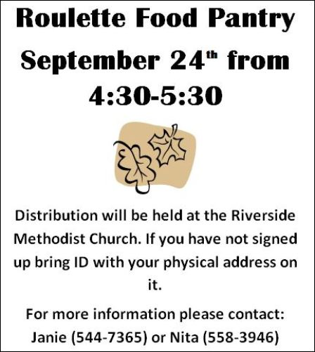 9-24 Roulette Food Pantry