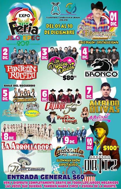 cartelera feria jilotepec 2017