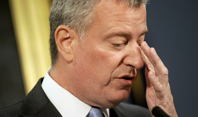 Bill de Blasio's initial poll numbers for the Democratic presidential primary are alarmingly bad