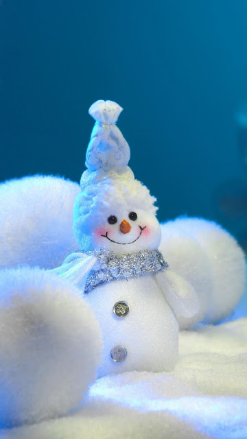 merry xmas 2016 snowman balls snow hd iphone wallpaper photo free download
