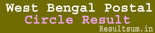 West Bengal Postal Circle Result 2015