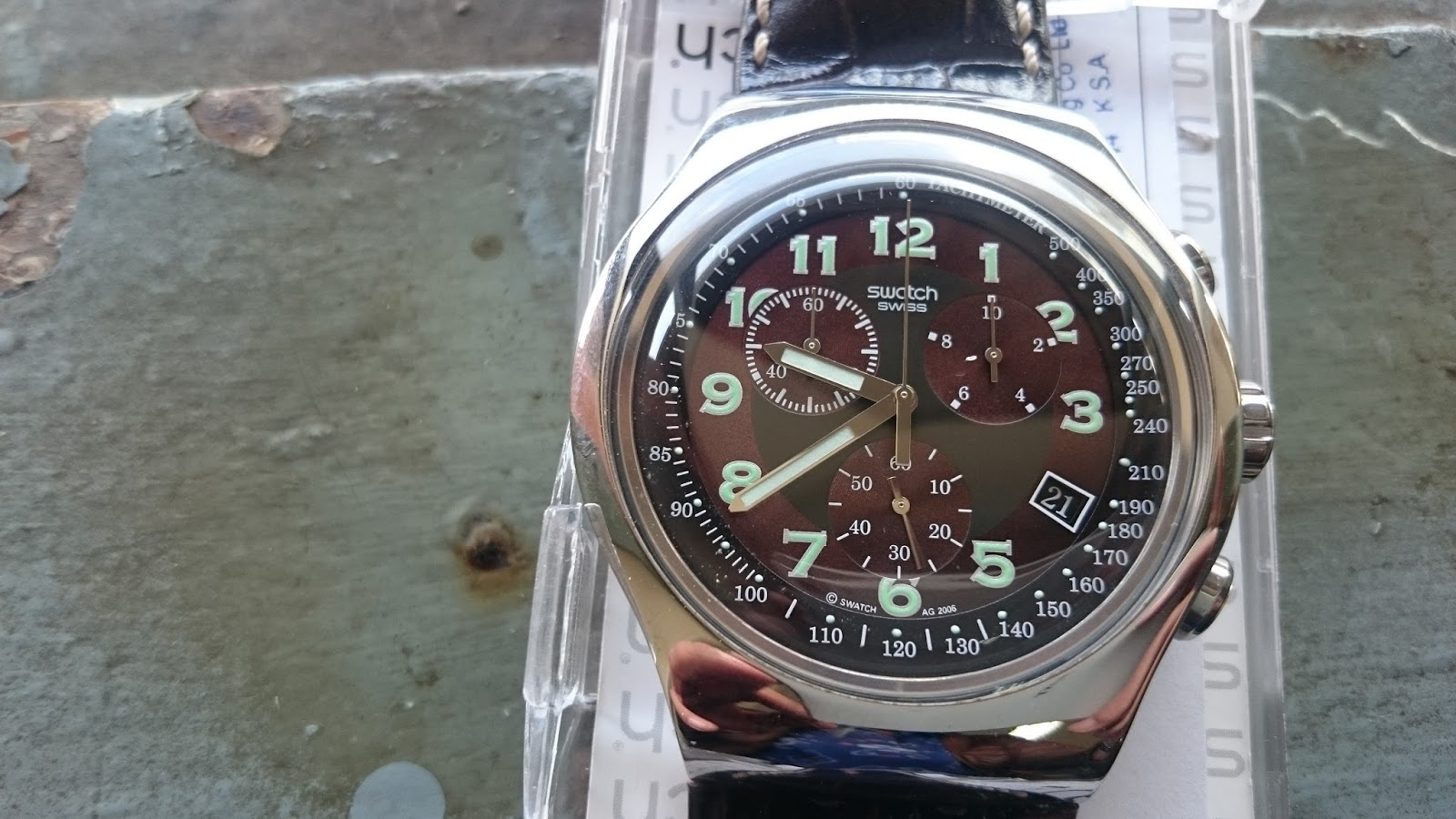 xDeath Market: (SOLD) Swatch Chronograph YOS413
