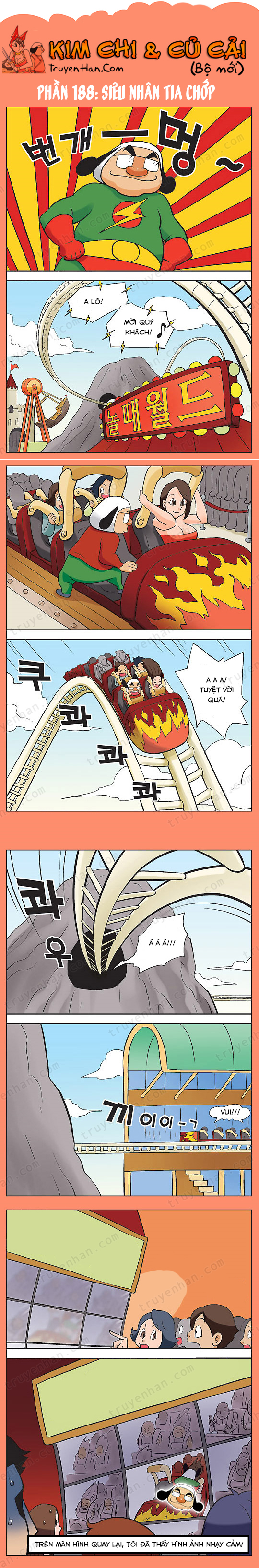 Kim Chi & Củ Cải (bộ mới) phần 188: Siêu nhân tia chớp