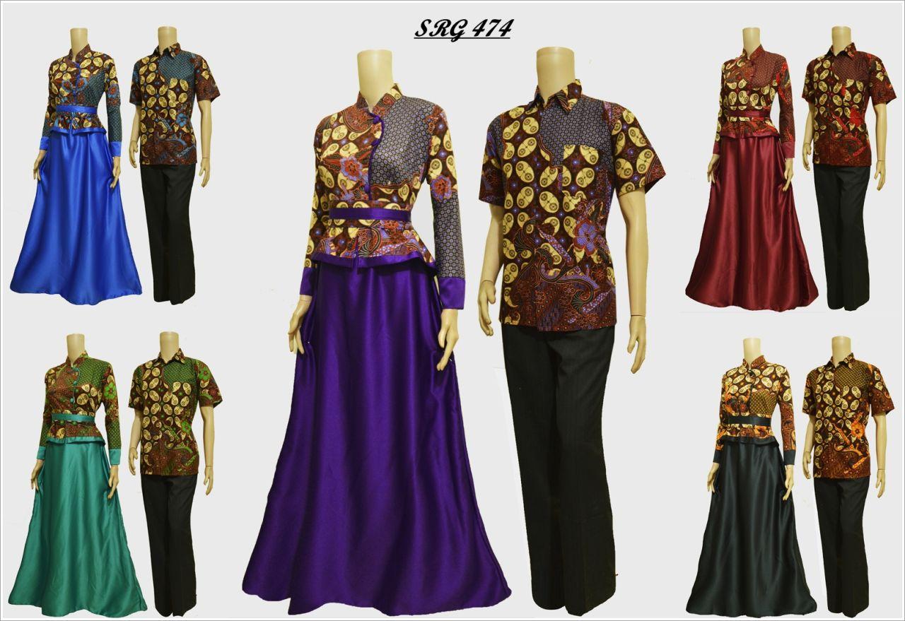 Jual Baju Batik Couple Srg 474 Solo Batik Store Online
