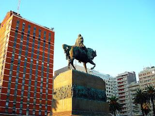 Plaza Independencia, no Centro de Montevidéu