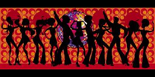 ダンスする人達のイラスト