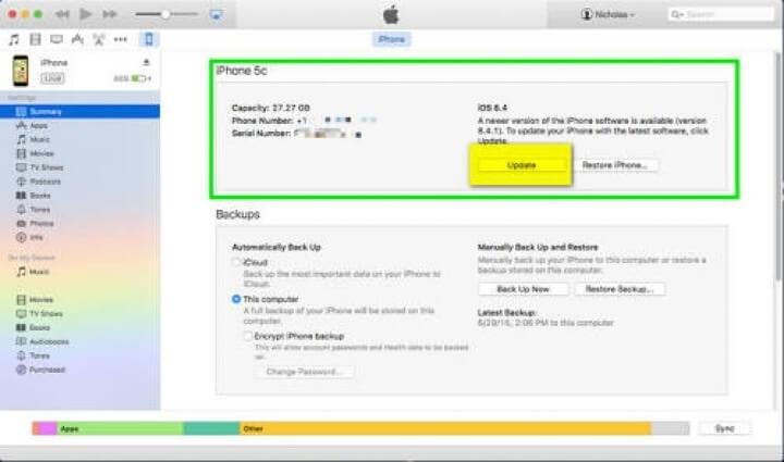 Update iOS Melalui iTunes