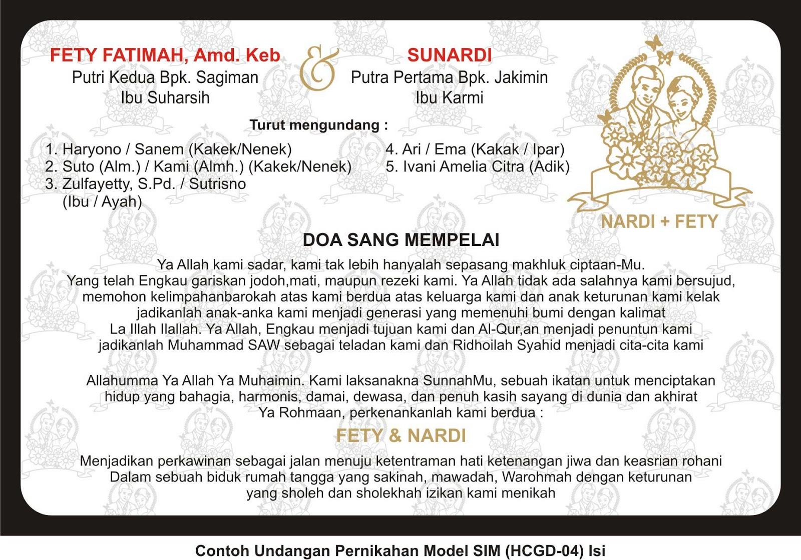 contoh undangan pernikahan | undangan murah | desain ...