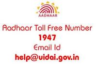 Aadhaar Card Customer Care Toll Free