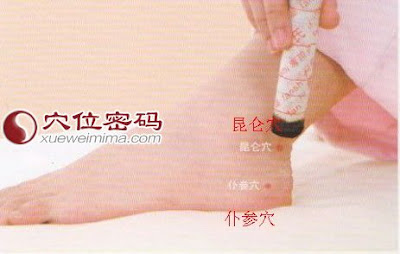 仆參穴位 | 仆參穴痛位置 - 穴道按摩經絡圖解 | Source:xueweitu.iiyun.com