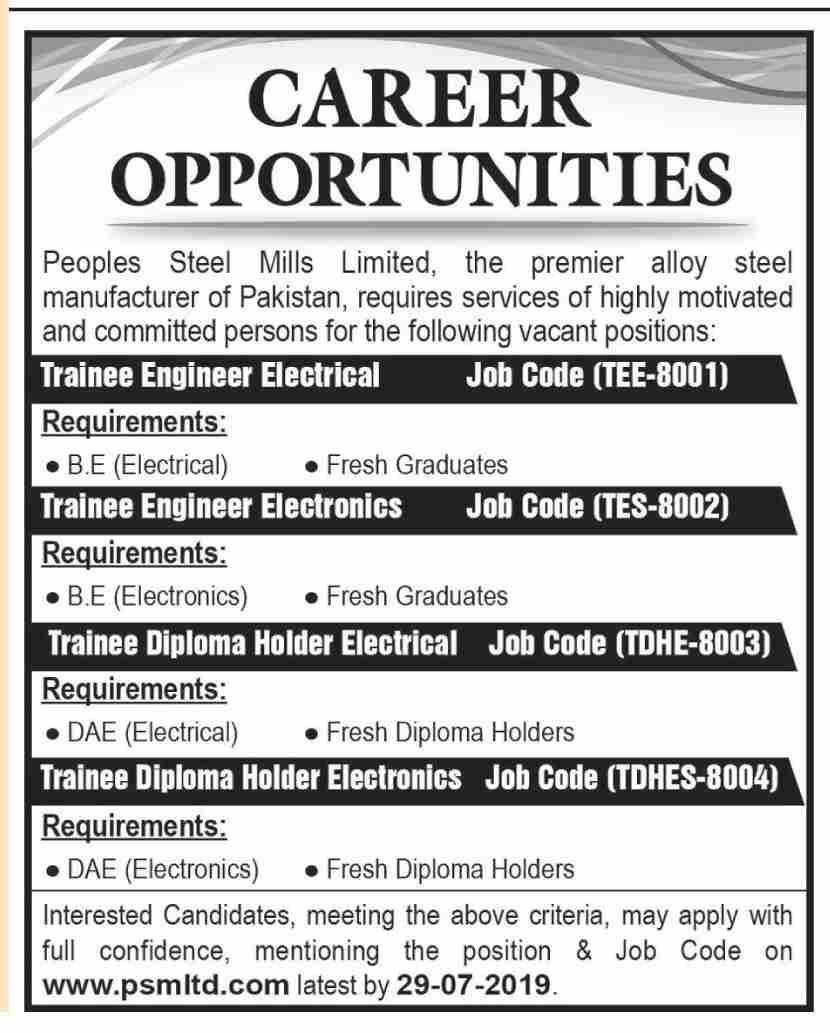 People Steel Mills Jobs July 2019