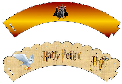 Harry Potter Free Printable Cupcake Wrappers.
