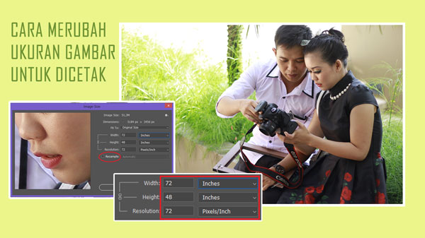 Cara Merubah Ukuran Gambar Untuk  Dicetak Menggunakan Photoshop