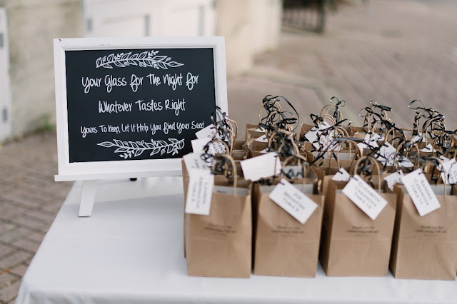 drinking glass wedding favors for guests