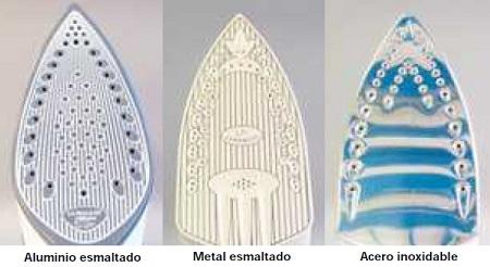 Diferentes tipos de suelas de planchas