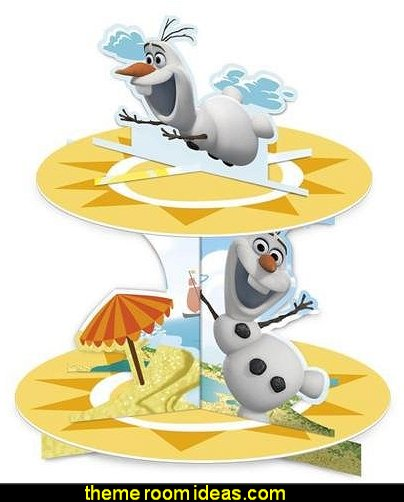 Frozen Olaf Summer Party 2 Tier Cupcake Stand  olaf winter party