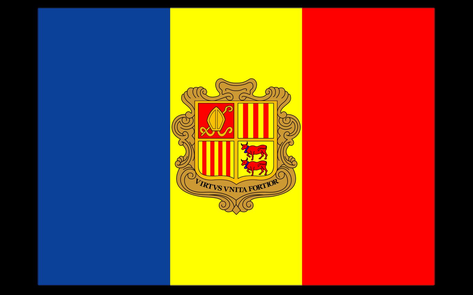 World Flags: Andorra Flag hd wallpaper