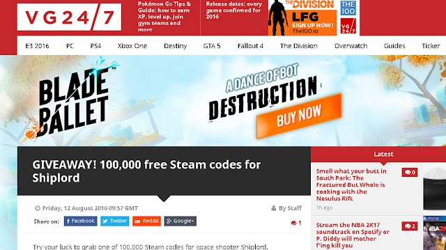 VG24/7 is giving away 100,000 Shiplord Steam Keys for free