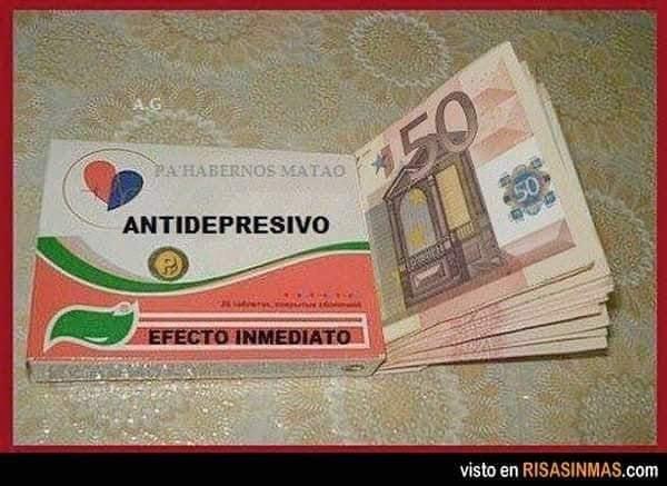 billetes euros el mejor antidepresivo